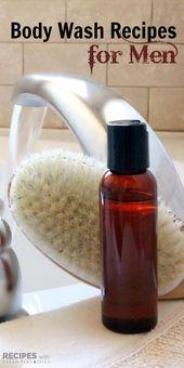7 hausgemachte männliche Body Wash Rezepte für Männer von RecipeswithEssent ….