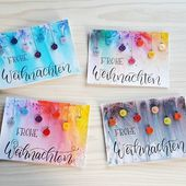 DIY Weihnachtskarten mit handlettering   – Handletterings von Herz-Kiste ¦ DIY & Geschenke & Lettering – #DIY #handlettering #Handletterings