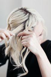 Einfache Flechtfrisuren für schulterlange Haare – DIY