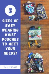 Baby Carrier Pouches That Slip Over Your SSC Waistband!