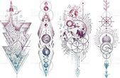 Vektorillustrationssatz Mondphasen. Verschiedene M…