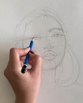 My sketching process by Polina Bright