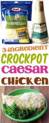 Crockpot Chicken Rezepte! Dieser einfache und schnelle Slow Cooker Caesar Huhn Rezept …