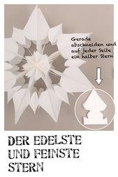 Sterne aus Butterbrottüten, kostenlose Anleitung, Bastelvorlage, Advent,
