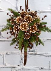 ▷ 1001 + Ideas and pictures about crafting pine cones