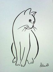 Bildergebnis für die Silhouette zweier Katzen Tippe auf den Link für ein fantastisches … #diytattooimages
