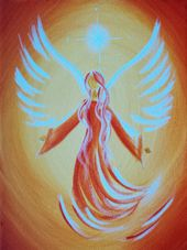 Acrylic painting – your personal guardian angel picture – a unique product by Dalaya on DaWanda