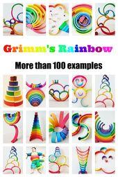 Grimm's houten regenboog: Meer dan 100 ideeën en voorbeelden en tips waar kopen