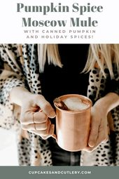 Flavorful Pumpkin Spice Moscow Mule with Canned Pumpkin