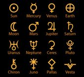Planet Symbols Shape references for symbolic astrology tattoo designs