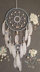Blauer Traum Hingucker große Traumfänger Hochzeit Traumfänger Boho Stil Boho Dekor Shabby chic Dekoration Schlafzimmer-Wand-Dekor