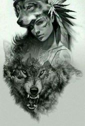 48+ Ideas For Tattoo Wolf Drawing Native American