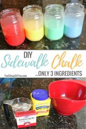 DIY 3 Ingredient Sidewalk Chalk Paint – Projects