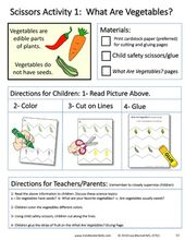 Scissors Skills and Science Book 5: ALL ABOUT VEGGIES – Cut Zig Zag Lines