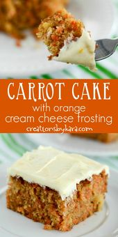 Made from scratch Carrot Cake with Cream Cheese Frosting – orange zest in the fr…