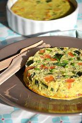 Flans de légumes à l'indienne { lait de coco, épices & coriandre