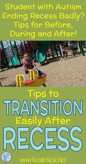 Tricks to Transition After Recess for College students with Autism | NoodleNook.Web