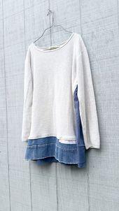 Pulloverkleid Loose Fit Upcycled Kleidung Repurposed von CreoleSha
