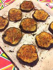 Tranches d'aubergines grillées à l'ail épicé