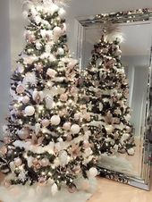 36 Rose and Gold Christmas Tree Decorating Ideas 2…