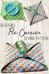 Reversible Pie Carrier Sewing Pattern – PDF download