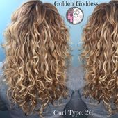 Naturally Curly Balayage Highlights Blond Hair by Carleen Sanchez-Nevada's Curl …