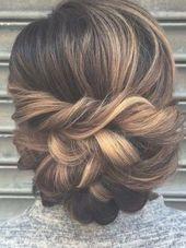 Graceful brown to caramel wedding hair updo