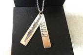 Necklace for Men, Custom Soundwave Necklace, Mens Soundwave Necklace, Wedding Gift, Groom Gift, Personalized Gift – Engraved Gift For Him