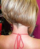 Ideas for shaved bob hairstyles – you can choose a graded bob hairstyle and … – I … – # graded #selections #frisur #frisuren
