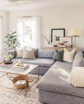 Large 30 Stylish Gray Living Room Ideas to Inspire You  – Wohnaccessoires