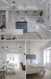 Inspirational Beach Cottage Kitchen Decoration and Interior Design Ideas 2019 dec …   – Dekorations ideen