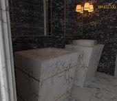 تصميم مغاسل Trash Can Vanity Bathroom Vanity