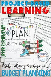 Holiday Activities: 4th , 5th grade & 6th Winter Project for Budgeting Money