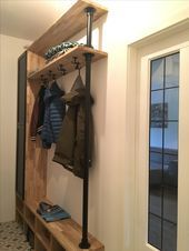 Compact Coat Rack Hall Closet In The Hall With Ample Storage Space For Shoes Dimensions Storage Spaces Hall Closet Coat Storage
