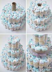 Rustikal-Glam-Baby-Dusche – & – Windel-Cake.2 – Baby Diy