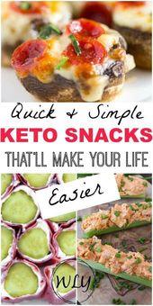 Leichte Keto-Snacks, die die BESTEN kohlenhydratarmen Snacks zu einer einfachen Mahlzeit oder zu einem Snack auf …