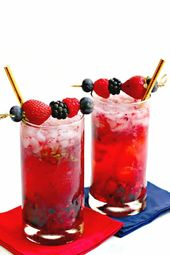 Berry Vodka Cocktails (Sugar-Free)