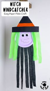 Paper Plate Witch Wind Catcher