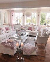 43 Inspiring Shabby Chic Living Room Ideas – #Chic…