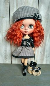 Marianne OOAK doll Blythe doll Blythe custom ooak mohair weft Collectible doll Home Decor