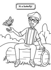 10 Best Free Printable Blippi Coloring Pages For Kids In 2020 Monster Truck Coloring Pages Tractor Coloring Pages Coloring Pages For Kids