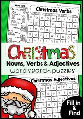 Weihnachts-Wortsuchrätsel: Substantive, Verben und Adjektive ergänzen und finden – Holiday Activities in the Classroom