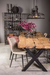 Rustic Industrial Live Edge Dining Table – Limited Abode – hangiulkeninmali.com/home