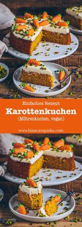 Karottenkuchen (Möhrenkuchen, Rüblikuchen)