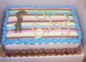 Babypartyblattkuchen entworfen nach Party Einladung. – Kuchen Baby – #Baby #Baby …   – Kuchendesign