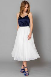 CONSTANT LOVE TULLE SKIRT CREAM WHITE BRIDE OUTFIT, #Bride #Brown registry office two piece set #CONSTANT …