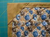Tipps für Patchworker: das unsichtbare Binding = faced Binding