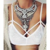 Legende Boho Statement Halskette # Mode #Stil # Glam #Silber #Statementnecklace