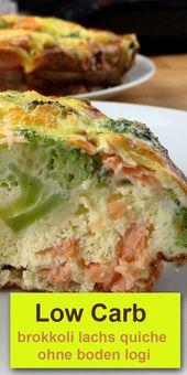 Low Carb brokkoli lachs quiche ohne boden logi – Gesunde Rezepte