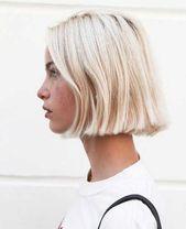 Modern short blonde hairstyles for ladies